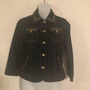 Ruby Rd . Women's Denim Jacket Size 4 P NWOT